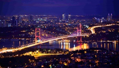 Istanbul Bosphorus at Night