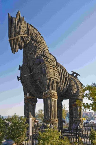 Replica of the Trojan Horse in Troy